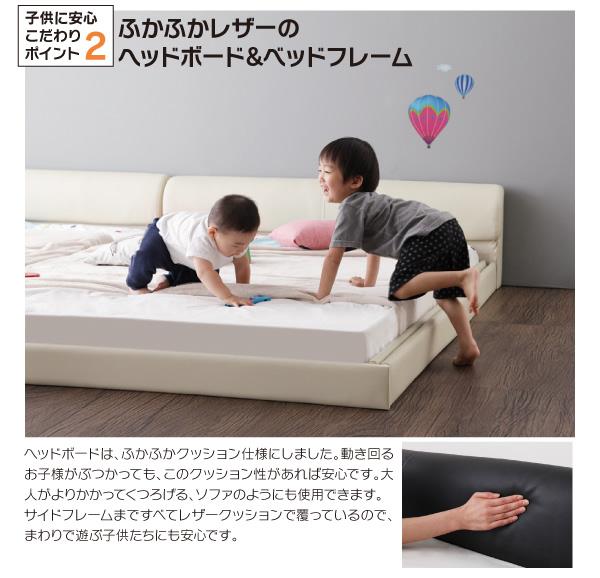 合皮ベッドの説明
