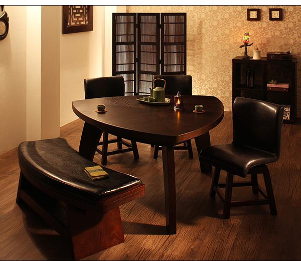 アジアン風ベンチテーブルセット「縁~EN」