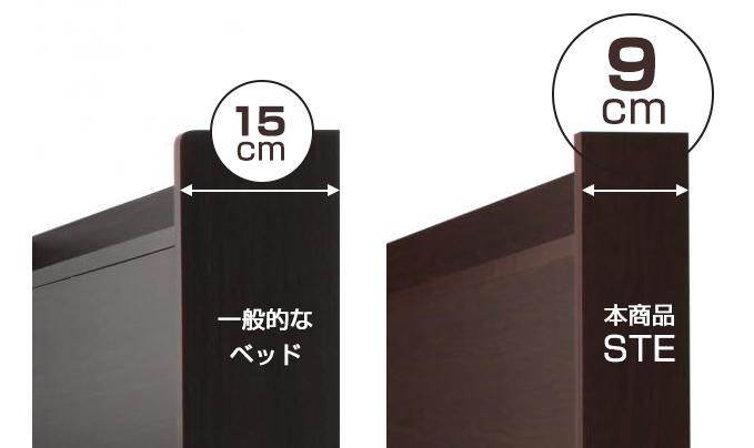 幅9cmのスリム設計