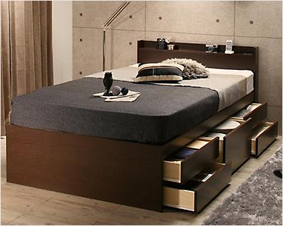 人気第3位!耐荷重600kg超頑丈設計のチェスト収納ベッド【SBG】