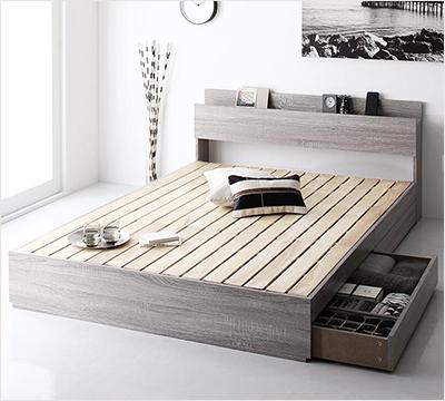 人気第1位!床板が通気性の良いすのこ仕様!6色展開の収納ベッド【GBS】