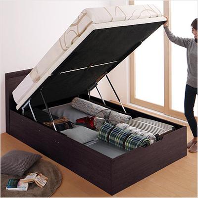 人気第3位!搬入しやすい分割式床板!大容量収納跳ね上げ式ベッド【FRG】