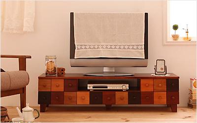 おしゃれな北欧デザイン天然木テレビボード【BSC】